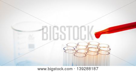 laboratory test tubes,medical glassware ( Filtered image processed colorful effect. )