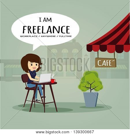 I'm freelance l could work anywhere and cafe.