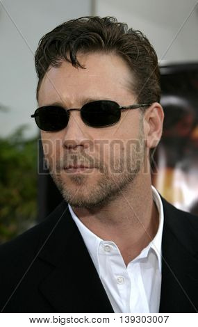Russell Crowe at the Los Angeles premiere of 'Cinderella Man' held at the Gibson Amphitheatre at Universal City in Hollywood, USA on May 23, 2005.