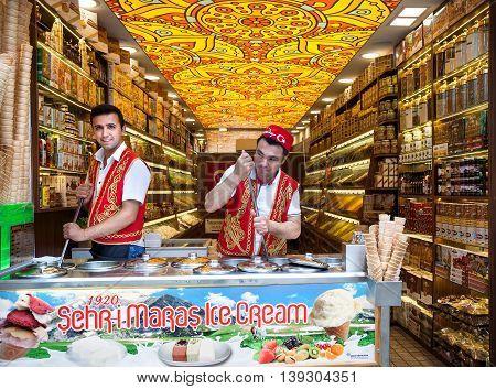 Istanbul Ice Cream Seller