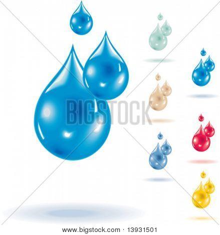 Vector macro waterdrops