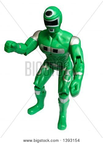Green Superhero Isolated