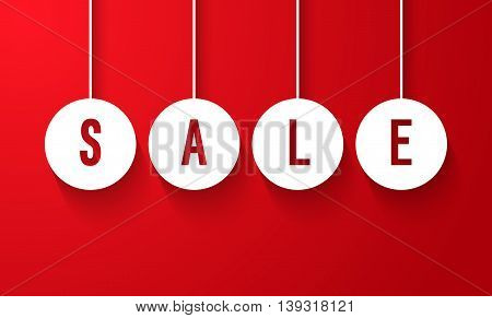 Sale Creative Colorful Business Banner. Vector illustration.