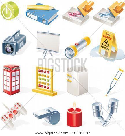 Conjunto de iconos de objetos Vector. Parte 14