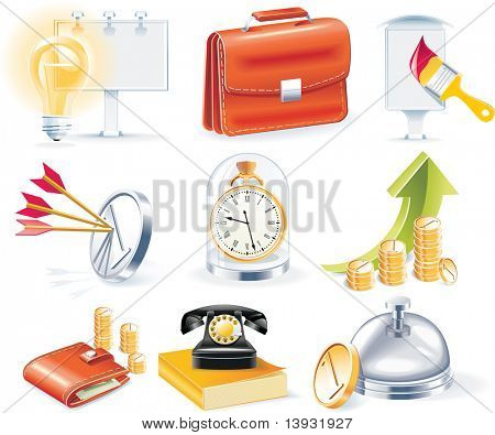 raster version of  business icon set