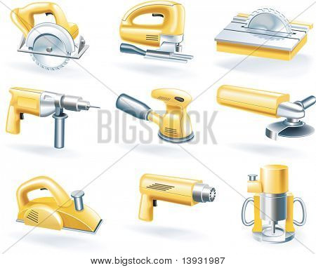 raster version of electric tools icon set