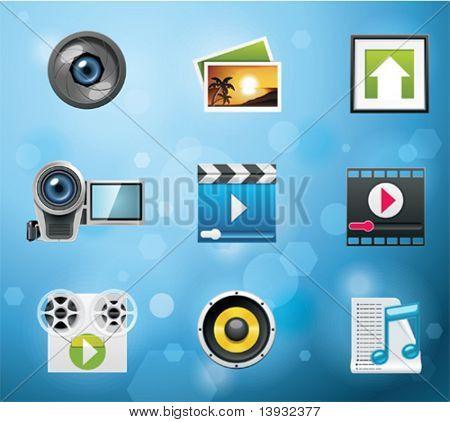 Typische Handy-apps und Dienste-Symbole. Teil 10 von 10