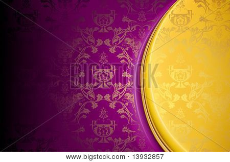 Violet and Gold, Luxury Background, vector