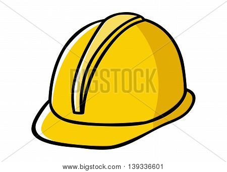 Doodle illustration of a construction worker hard hat
