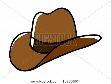 Doodle illustration of a cowboy hat isolated on white