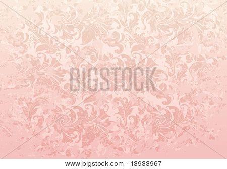 Pink Grunge Vintage pattern, vector