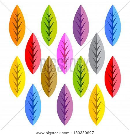 Vector stock of colorful group of leaf in every season