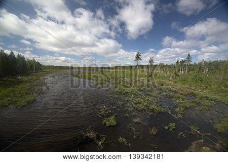 Outlook Over A Swedish Lake Near Tullingsaas