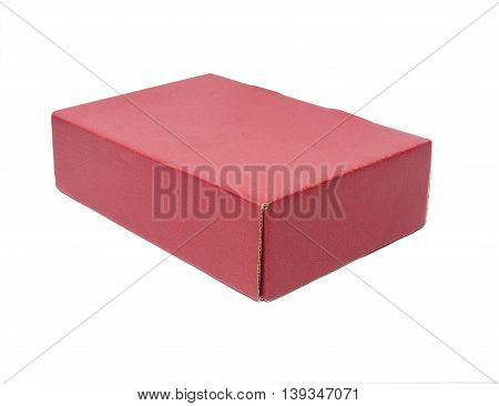 The red box isolate on white background
