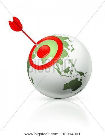 世界的目标,矢量图标