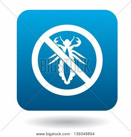 No louse sign icon in simple style on a white background