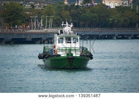 Singapore, Singapore - 20 July, 2016: Patrol vessel ship at Singapore sea