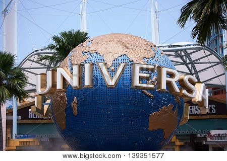 Singapore, Singapore - July 18, 2016: Universal Studios Singapore is a theme park located within Resorts World Sentosa on Sentosa Island, Singapore
