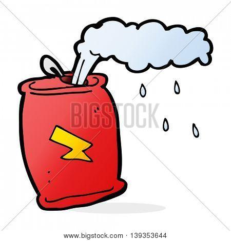 cartoon fizzing soda can