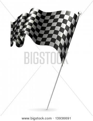 Waving flag checkered, 10eps