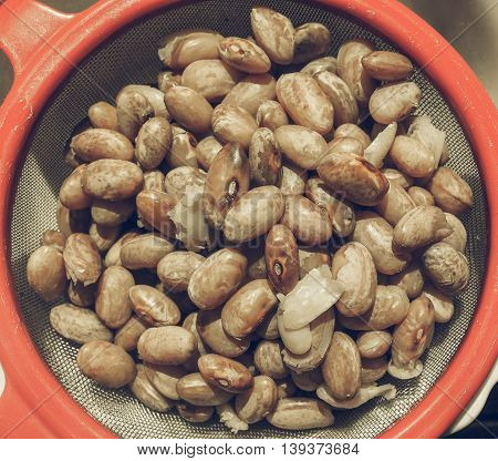 Borlotti Beans Vegetables Vintage Desaturated