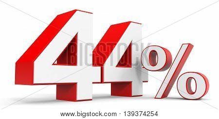Discount 44 percent off sale. 3D illustration.