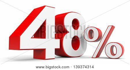 Discount 48 percent off sale. 3D illustration.