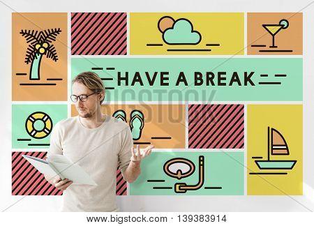 Break Cessation Leisure Pause Recess Relaxation Concept