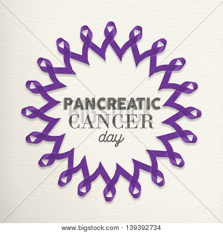 Pancreatic Cancer Day Design Made Of Ribbons