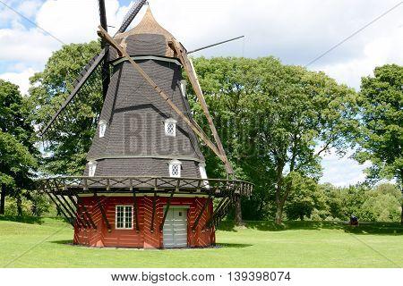 Windmill in Kastellet fortress in Copenhagen, Denmark