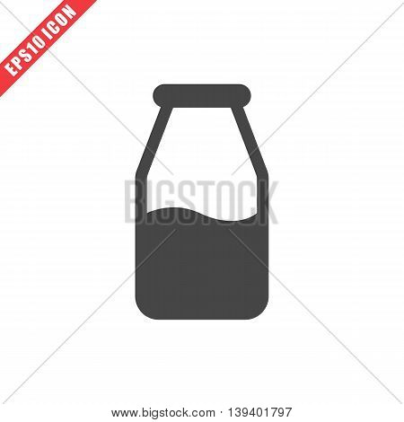 Vector Illustration Of Milk Bottle Icon