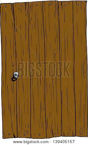 Isolated Rectangular Wooden Door
