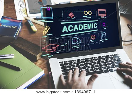 Academic Campus College Degree Diploma Study Concept poster