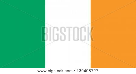 Vector Republic of Ireland flag