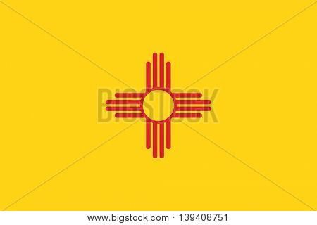 Vector State of New Mexico flag