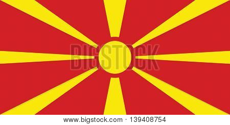 Vector Republic of Macedonia flag