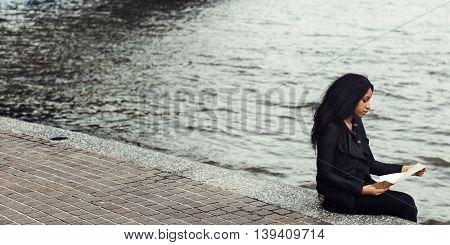 Girl Breakup Relationship Sitting Alone Concept