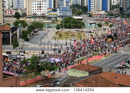#foratemer Protest In Sao Paulo, Brasil