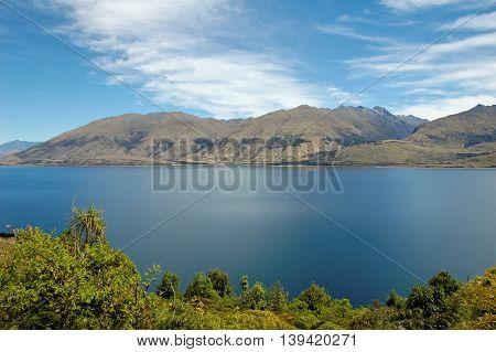 Lake Hawea in Wanaka, south island of New Zealand