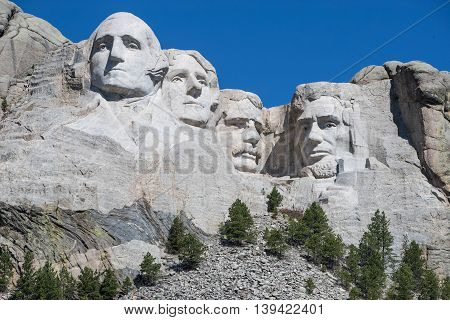 Mount Rushmore Monument in the Black Hills Rapid City South Dakota