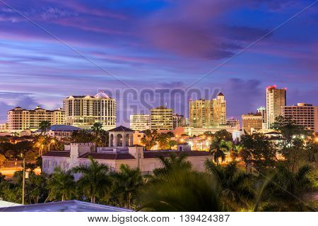 Sarasota, Florida, USA downtown skyline.