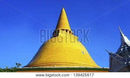 Prapathom Chedi Pagoda Temple Outdoo