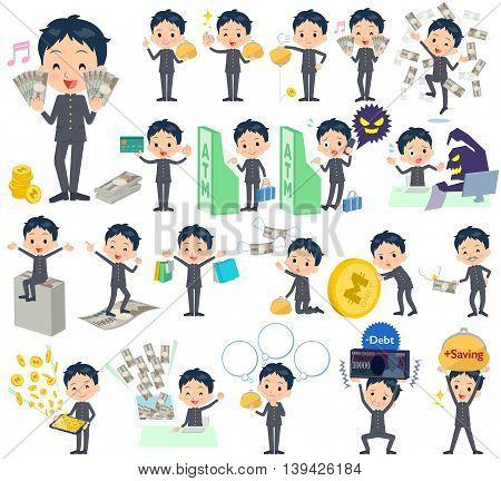 School Boy Gakuran Money