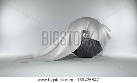 Mirrorball Covered By A Silky Cloth