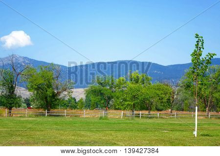 Mountains and forests surround the city of Missoula, Montana.