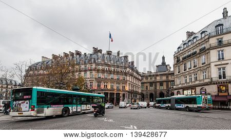 Paris France, 3 December 2014:  Paris, France's capital, is a major European city and a global center for art, fashion, gastronomy and culture. Its picturesque 19th-century cityscape is crisscrossed by wide boulevards and the River Seine