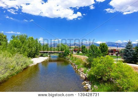 The Salmon River flows through the Idaho town which shares the river's name.