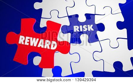 Risk Vs Reward ROI Return Investment Puzzle 3d Illustration