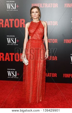 NEW YORK-JULY 11: Actress Diane Kruger attends 'The Infiltrator' New York premiere at AMC Loews Lincoln Square 13 Theater on July 11, 2016 in New York City.