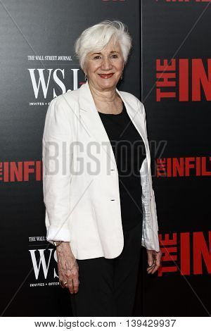 NEW YORK-JULY 11: Actress Olympia Dukakis attends 'The Infiltrator' New York premiere at AMC Loews Lincoln Square 13 Theater on July 11, 2016 in New York City.